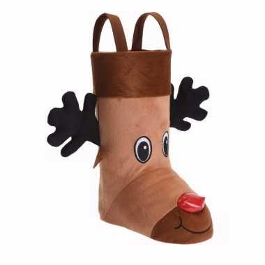 Cadeauzak/kerstsok schoen d rendier