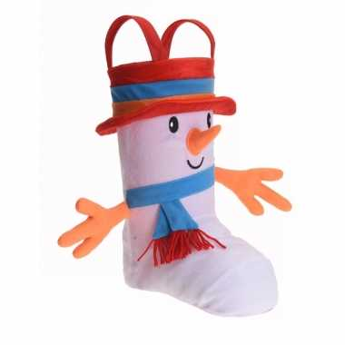 Cadeauzak kerstsok schoen d sneeuwpop