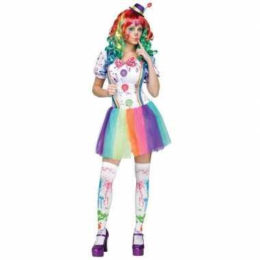 Compleet clowns kostuum paint dames