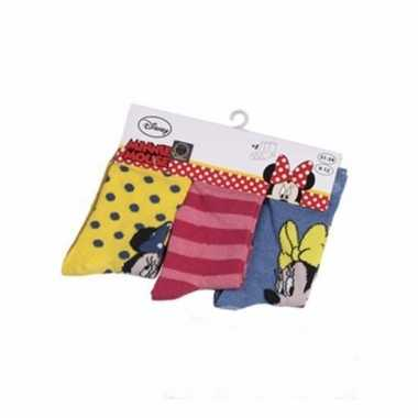 Disney minnie mouse kindersokken pak