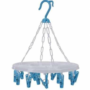 Droogcarrousel blauw knijpers
