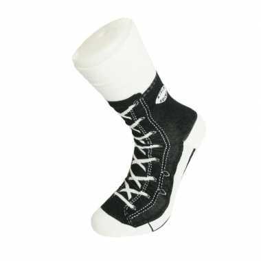 Foute sokken zwarte sneaker volwassenen maat