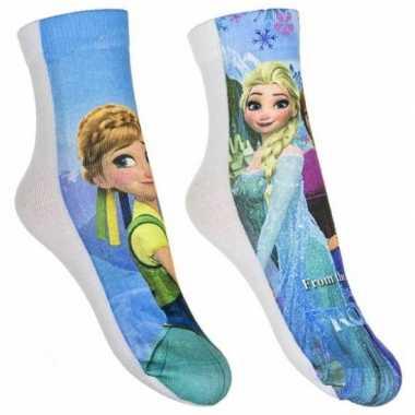 Frozen meisjes sokken pak blauw