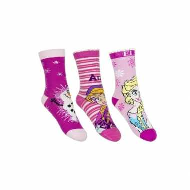 Frozen meisjes sokken pak roze
