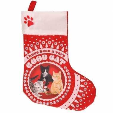 Katten poezen kerstsokken i have been a very good cat