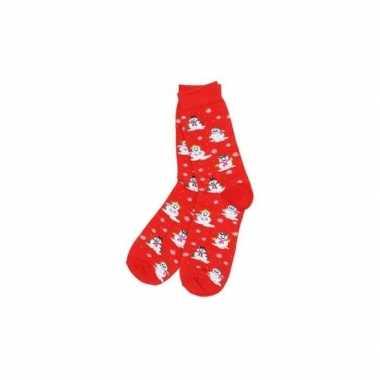 Kerst rode kerstsokken sneeuwpoppen