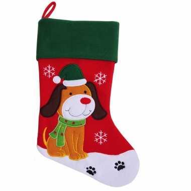 Kerstsok hond huisdier kerstsokken
