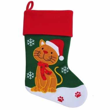Kerstsok kat poes huisdier kerstsokken