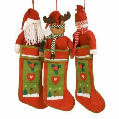Luxe kerstsok kerstman
