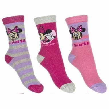 Minnie mouse meisjes sokken pak lila
