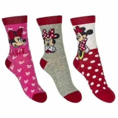 Minnie mouse meisjes sokken pak rood