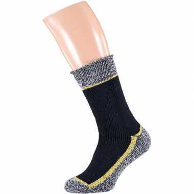 Paar thermo werk sokken navy blauw/donkerblauw heren