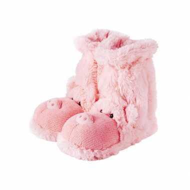Pantoffel sokken roze varken
