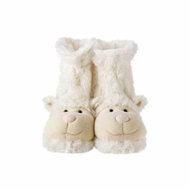 Pantoffel sokken wit lammetje