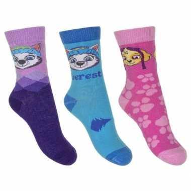 Paw patrol meisjes sokken pak everest