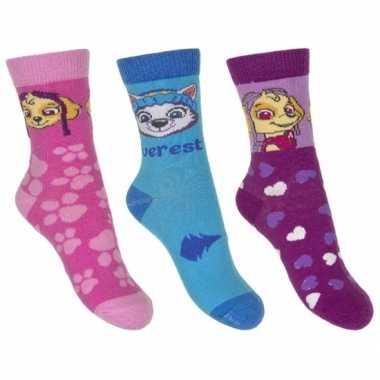 Paw patrol meisjes sokken pak skye