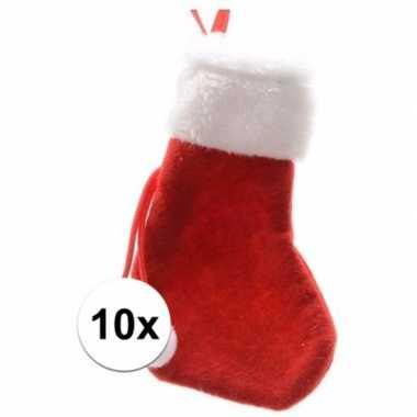 Rode mini kerstsokken stuks 10098794