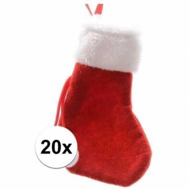 Rode mini kerstsokken stuks 10098795