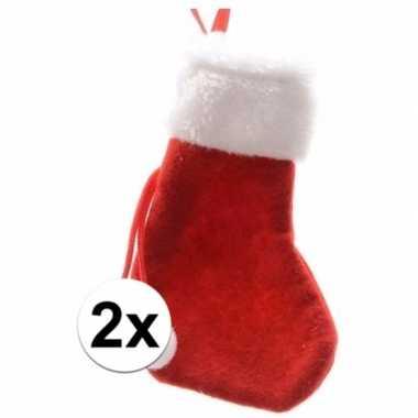 Rode mini kerstsokken stuks