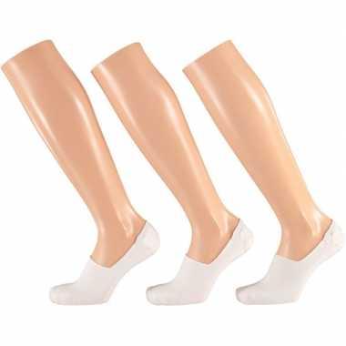 Witte sneaker sokken siliconen hiel heren pak