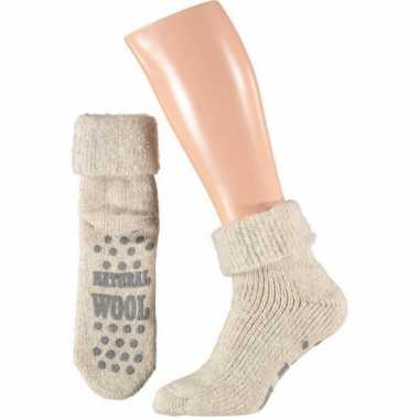 Wollen huis sokken voor mannen wit