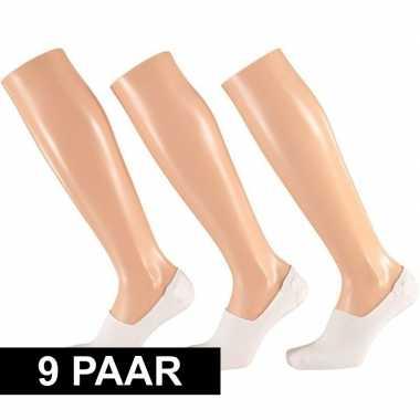 X paar witte sneaker sokken siliconen hiel dames