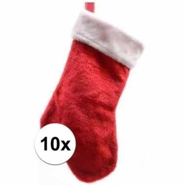 X rode pluche kerstsokken