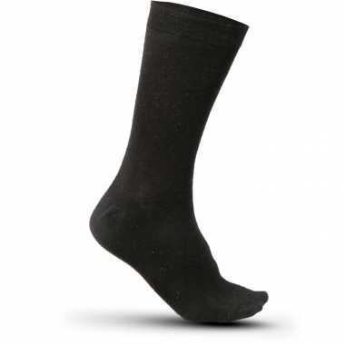 X stuks katoenen sokken kariban volwassenen zwart maat