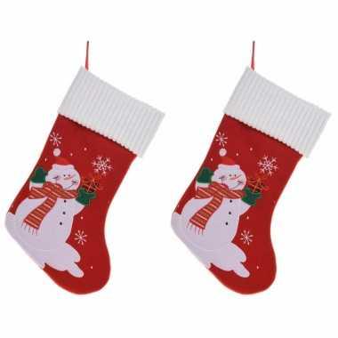 X stuks kerstsokken sneeuwpop