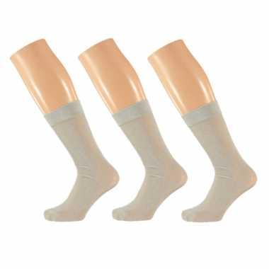 X stuks zilveren dames party glitter sokken lurex maat