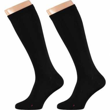 Zwarte compressie sokken volwassenen