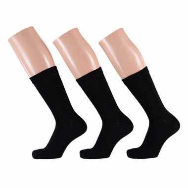 Zwarte dames sokken paar maat /