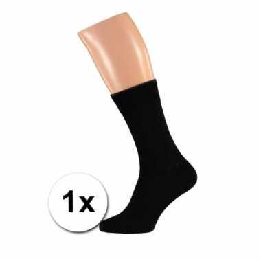 Zwarte kwaliteit heren sokken maat /